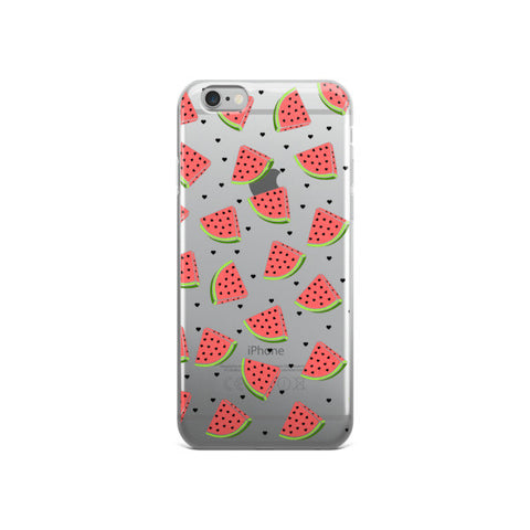 Watermelon Clear Transparent TPU Case - iPhone 6/6s - Cinderbloq Cases & Accessories