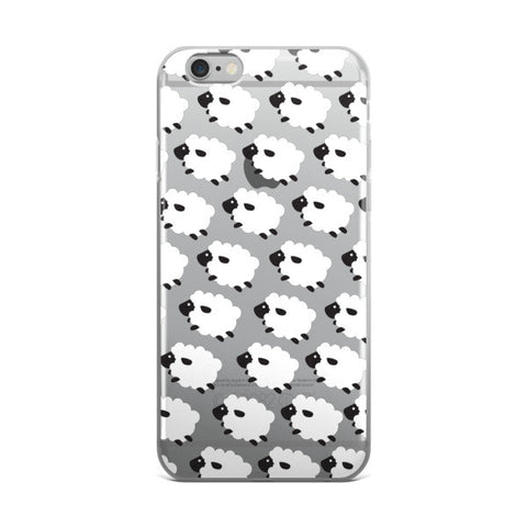 Counting Sheep Clear Transparent TPU iPhone case - CinderBloq Cases & Accessories