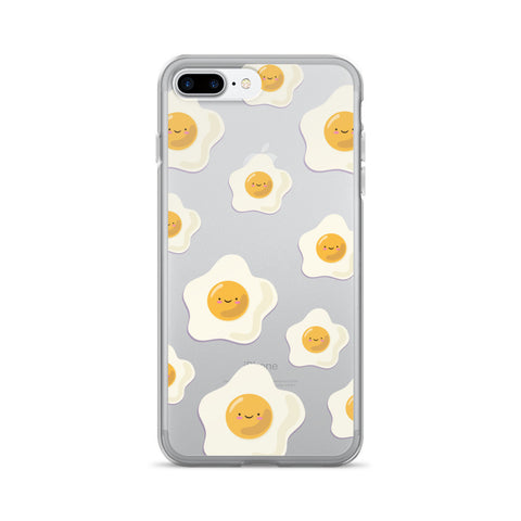 Sunny Side Up Egg Pattern TPU iPhone Case - iPhone 7 Plus - Cinderbloq Cases & Accessories