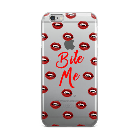 Bite Me Transparent iPhone Case - iPhone 6 Plus / 6s Plus - Cinderbloq Cases & Accessories