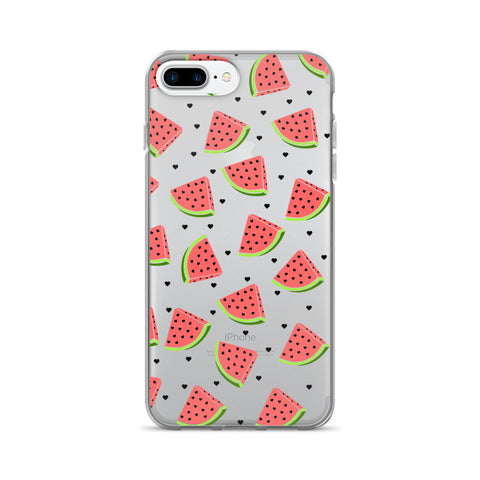 Watermelon Clear Transparent TPU Case - iPhone 7 Plus - Cinderbloq Cases & Accessories