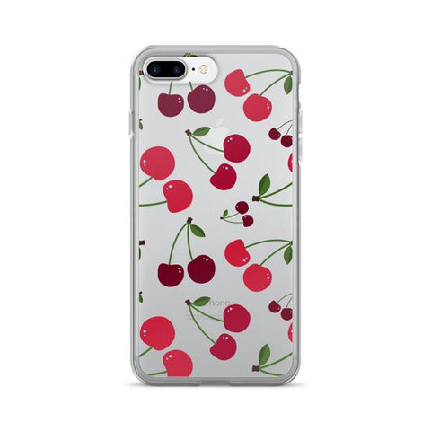 Cherry Transparent iPhone Case - iPhone 7 Plus - CinderBloq Cases & Accessories