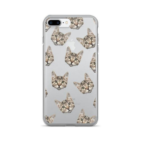 Cat Pattern TPU iPhone Case - iPhone 7 Plus - Cinderbloq Cases & Accessories