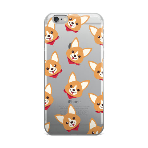 Corgi Pattern Transparent iPhone Case - CinderBloq Cases & Accessories