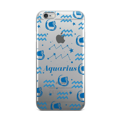Horoscope Zodiac - Aquarius - TPU iPhone Case - Cinderbloq Cases & Accessories