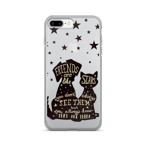 Best Friends Are Like Stars Transparent iPhone 7 Plus Case - CinderBloq Cases & Accessories