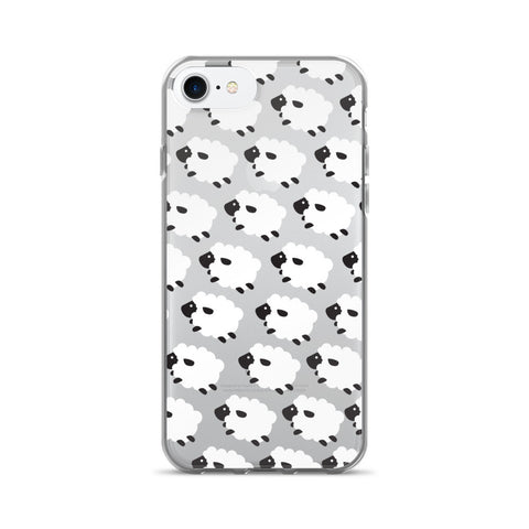 Counting Sheep Clear Transparent TPU iPhone Case - iPhone 7 - Cinderbloq Cases & Accessories
