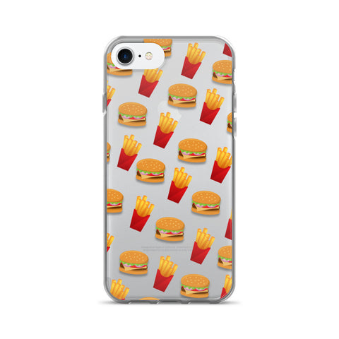 Burger & Fries Transparent - iPhone 7 - Cinderbloq Cases & Accessories