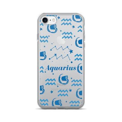 Horoscope Zodiac - Aquarius - TPU iPhone 7 Case - Cinderbloq Cases & Accessories