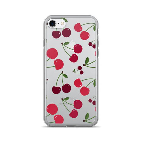 Cherry Transparent iPhone Case - iPhone 7 - Cinderbloq Cases & Accessories