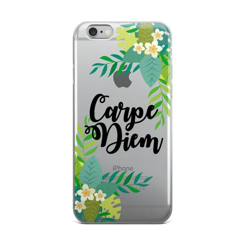 Carpe Diem Transparent TPU iPhone Case - iPhone 6/6s - Cinderbloq Cases & Accessories
