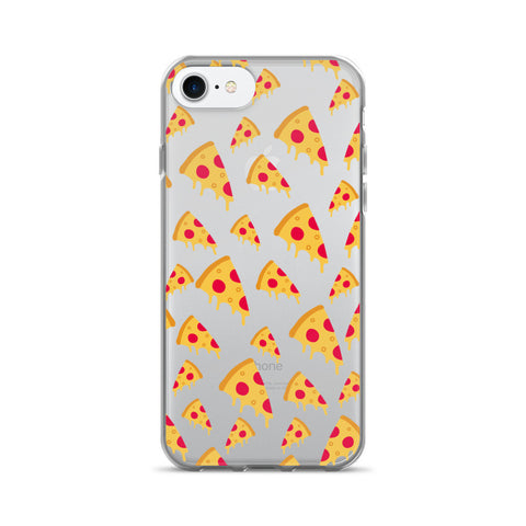 Pizza Clear Transparent TPU Case - iPhone 7 - Cinderbloq Cases & Accessories