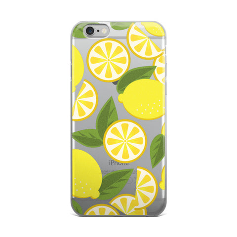 Lemon Clear Transparent TPU Phone case - iPhone 6 Plus / 6s Plus - Cinderbloq Cases & Accessories
