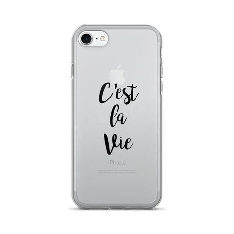 C'est La Vie Transparent iPhone Case - iPhone 7 - Cinderbloq Cases & Accessories