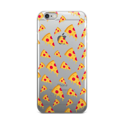 Pizza Clear Transparent TPU iPhone case - Cinderbloq Cases & Accessories