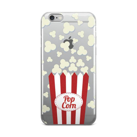 Popcorn Clear Transparent TPU Case - iPhone 6/6s - Cinderbloq Cases & Accessories