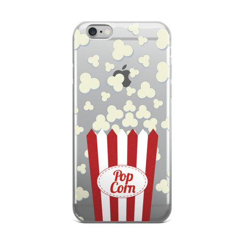 Popcorn Clear Transparent TPU iPhone Case - Cinderbloq Cases & Accessories