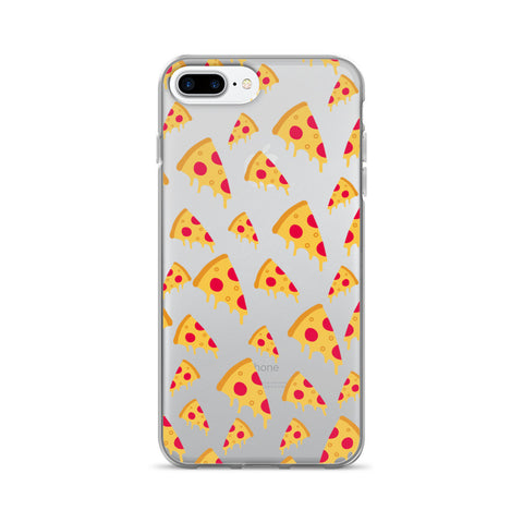 Pizza Clear Transparent TPU Case - iPhone 7 Plus - Cinderbloq Cases & Accessories