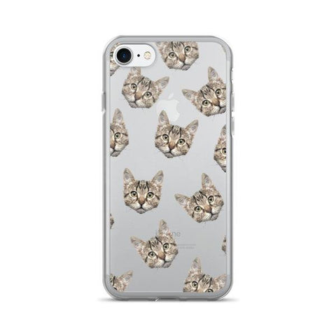 Cat Pattern TPU iPhone Case - iPhone 7 - Cinderbloq Cases & Accessories