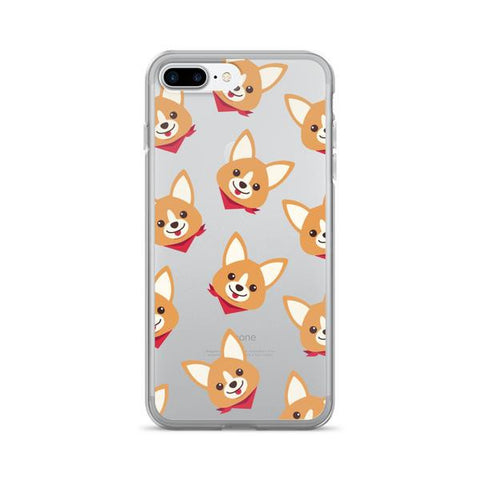 Corgi Pattern TPU iPhone Case - iPhone 7 Plus - Cinderbloq Cases & Accessories
