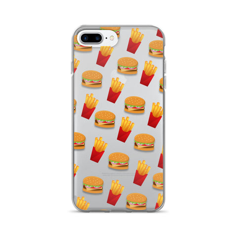 Burger & Fries Transparent - iPhone 7 Plus - CinderBloq Cases & Accessories