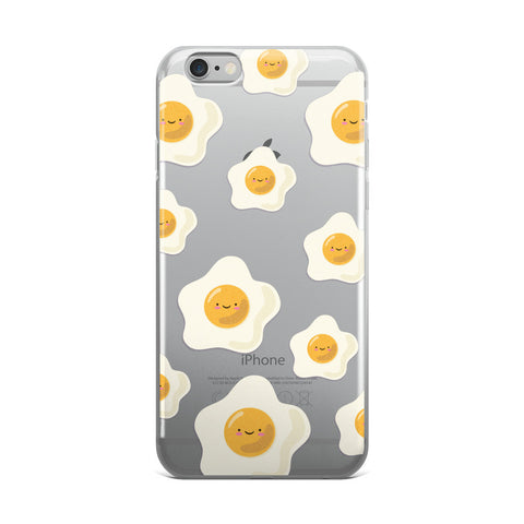 Sunny Side Up Egg Pattern TPU iPhone Case - iPhone 6 Plus / 6s Plus - Cinderbloq Cases & Accessories