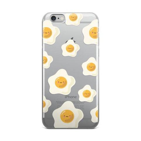 Sunny Side Up Egg Pattern TPU iPhone Case - iPhone 6/6s - Cinderbloq Cases & Accessories