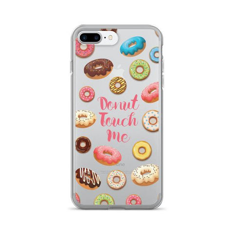 Donut Touch Me Transparent iPhone Case - iPhone 7 Plus - Cinderbloq Cases & Accessories