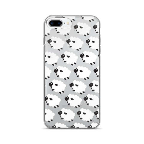 Counting Sheep Transparent iPhone Case - iPhone 7 Plus - CinderBloq Cases & Accessories