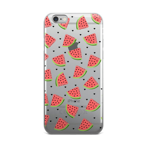 Watermelon Clear Transparent TPU iPhone case - Cinderbloq Cases & Accessories