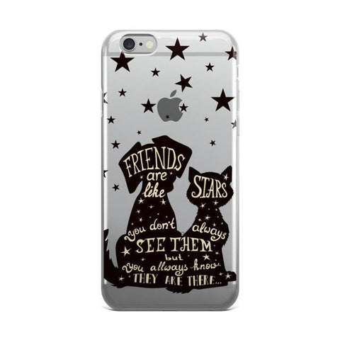 Best Friends Are Like Stars Transparent iPhone 6/6s Case - CinderBloq Cases & Accessories