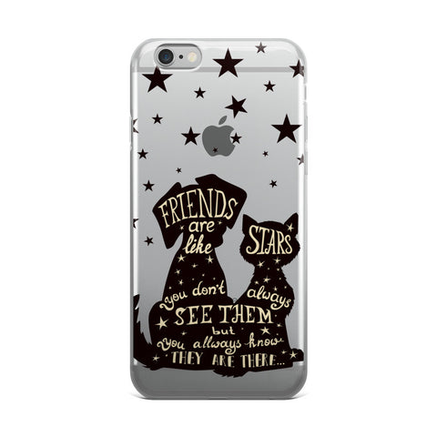 Best Friends Are Like Stars Transparent iPhone Case - CinderBloq Cases & Accessories