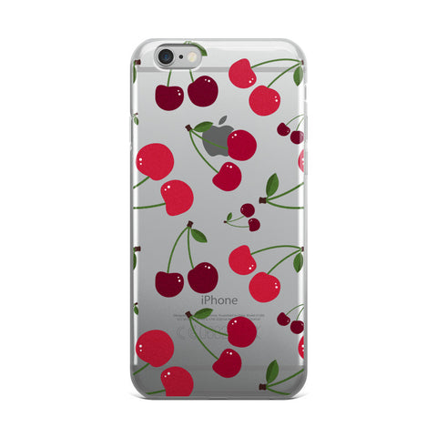 Cherry Transparent iPhone Case - iPhone 6 Plus / 6s Plus - Cinderbloq Cases & Accessories