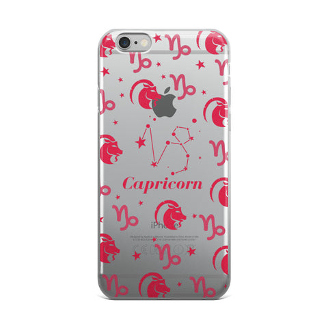 Horoscope Zodiac - Capricorn - TPU iPhone Case - Cinderbloq Cases & Accessories