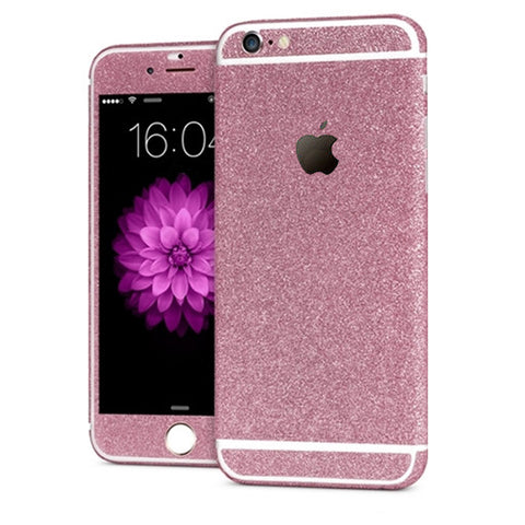'All Blinged Out' Full Body Protective Glitter Decal Phone Skin (Pink) - Cinderbloq Cases & Accessories