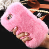 D'Luxe Fur iPhone Case (Pink) - Cinderbloq Cases & Accessories