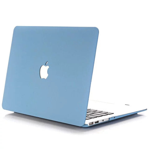 "Sleek Rubberized Textured Matte Hard Case (Blue) for MacBook Pro Retina Display 15"" [A1398] - Cinderbloq Cases & Accessories"