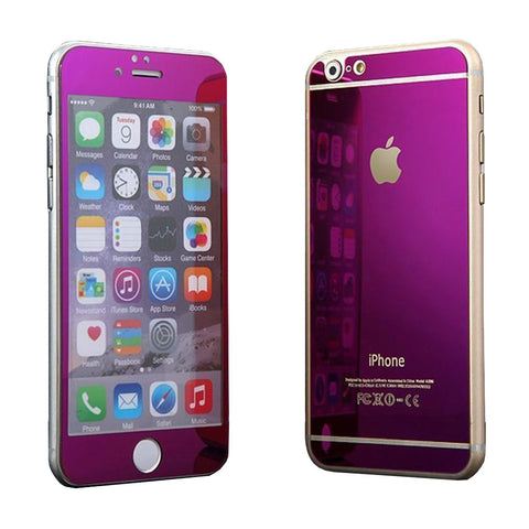 Tempered Glass Mirror Effect Chrome Screen Protector (Purple) - CinderBloq Cases & Accessories