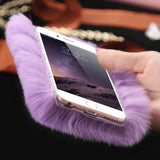 D'Luxe Fur Phone Case (Violet) - iPhone 5/5s/5se - Cinderbloq Cases & Accessories