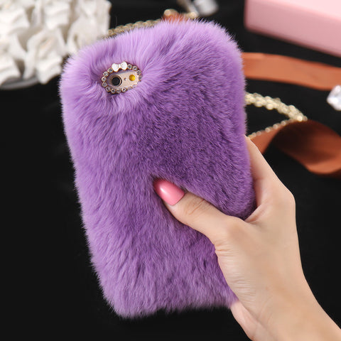 D'Luxe Fur iPhone Case (Violet) - CinderBloq Cases & Accessories