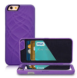 Wallet + Mirror iPhone Case (Purple) - Cinderbloq Cases & Accessories