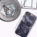Quantum Blue Stone Marble Phone Case - Samsung Galaxy S7 - Cinderbloq Cases & Accessories