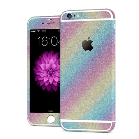 'All Blinged Out' Full Body Protective Glitter Decal Phone Skin (Rainbow) - Cinderbloq Cases & Accessories