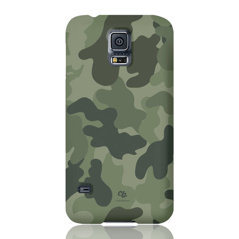 Army Green Camo Phone Case - Samsung Galaxy S5 - CinderBloq Cases & Accessories
