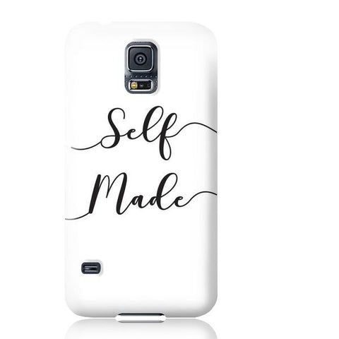Self Made (White) Phone Case - Samsung Galaxy S5 - Cinderbloq Cases & Accessories