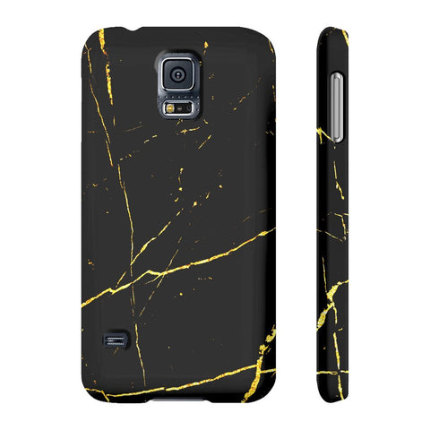 Black & Gold Marble Phone Case - Samsung Galaxy S5 - CinderBloq Cases & Accessories