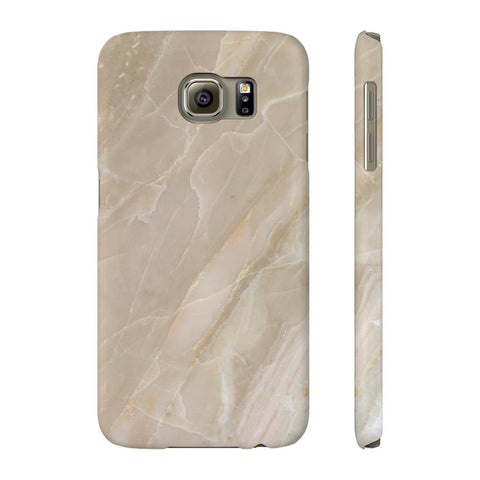 Beige Stone Marble Phone Case - Samsung Galaxy S6 - CinderBloq Cases & Accessories