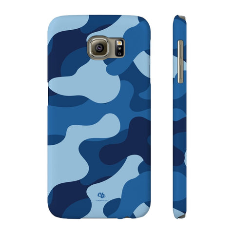 Blue Camo Phone Case - Samsung Galaxy S6 - CinderBloq Cases & Accessories