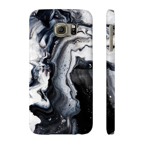 Black Ice Marble Phone Case - Samsung Galaxy S6 - CinderBloq Cases & Accessories
