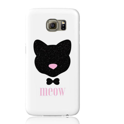 Meow! Glitter Cat Phone Case - Samsung Galaxy S6 - Cinderbloq Cases & Accessories